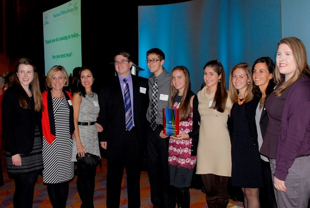Grace Pettengill Receives an Award for Josh Cares