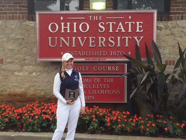 Bradfish '15 takes eighth at State Tournament in golf