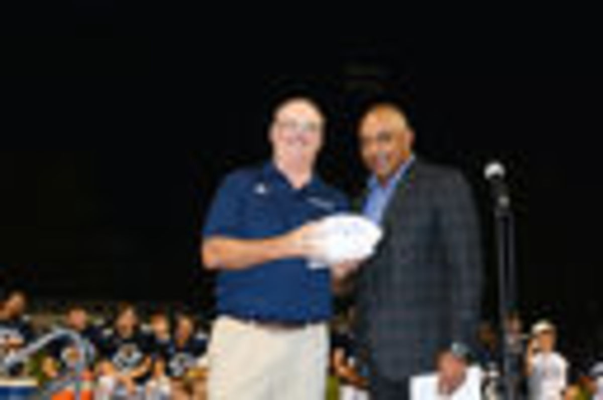 Coach Dunn Honored at Homecoming Football Game