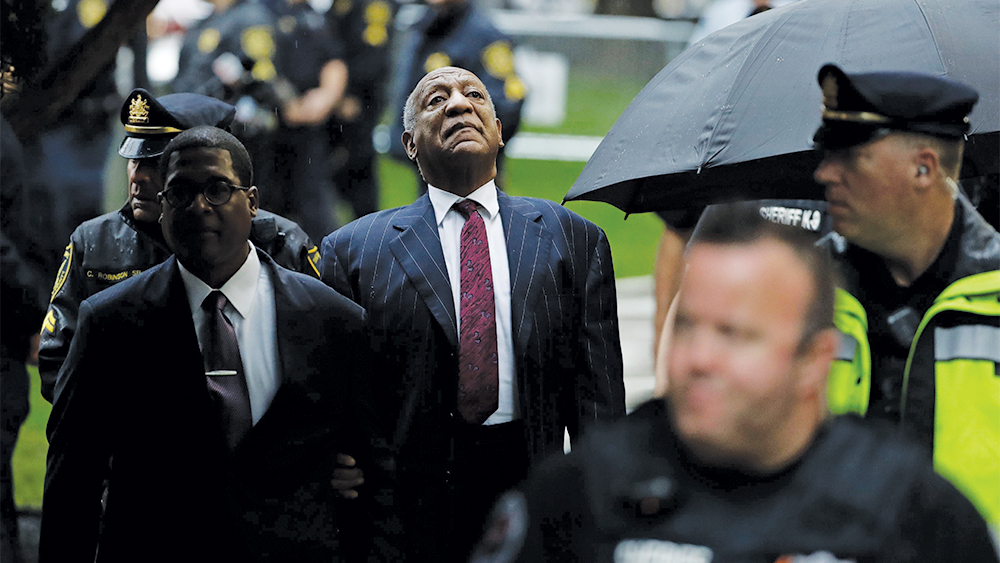 Mandatory Credit: Photo by Matt Slocum/AP/REX/Shutterstock (9894344s) Bill Cosby arrives for his sentencing hearing at the Montgomery County Courthouse, in Norristown, Pa Bill Cosby, Norristown, USA - 25 Sep 2018